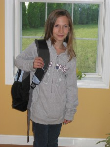 Sam 1st day of 5th grade