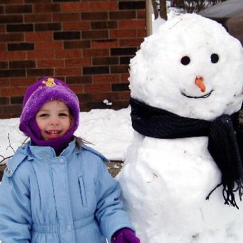 snowman n girl