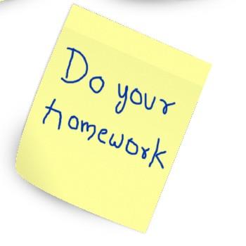 homework postit