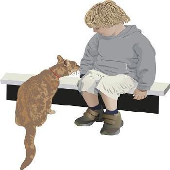 boy n cat