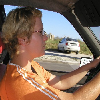 mom in car