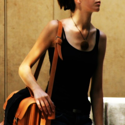 woman in lobby