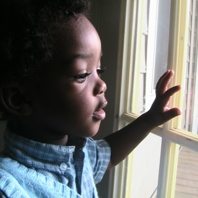 boy at window
