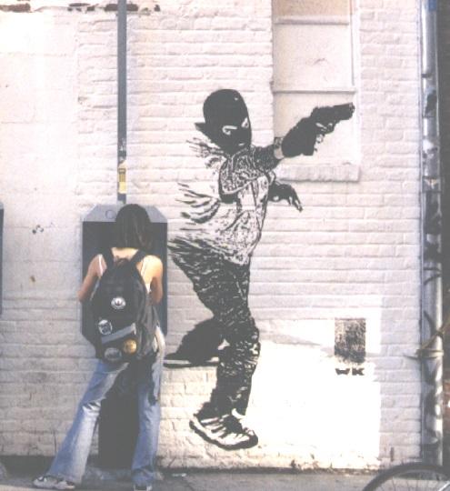 gun mural