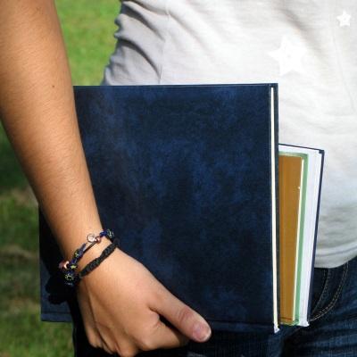 girl with schoolbooks