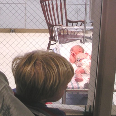 visiting baby
