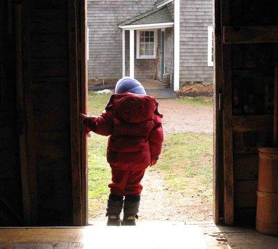 preschooler doorway