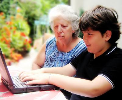 teen and grandma
